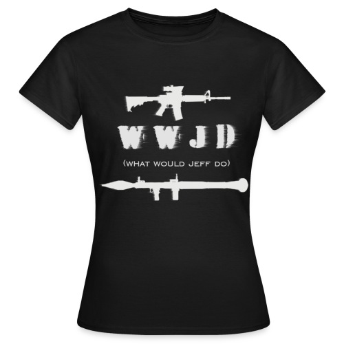 WWJD - White Design - Womens - Women's T-Shirt