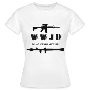 WWJD - Black Design - Womens - Women's T-Shirt