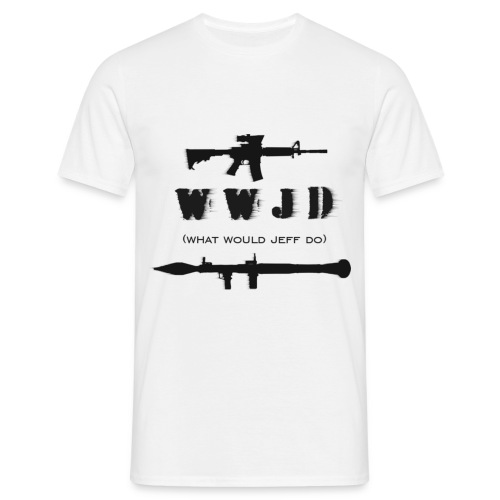 WWJD - black design - Mens - Men's T-Shirt