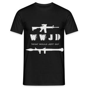 WWJD - White Design - Mens - Men's T-Shirt