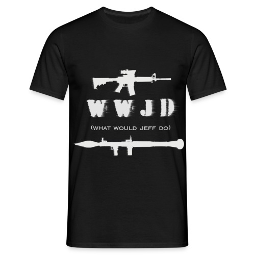 WWJD - White Design - Mens - Men's T-Shirt