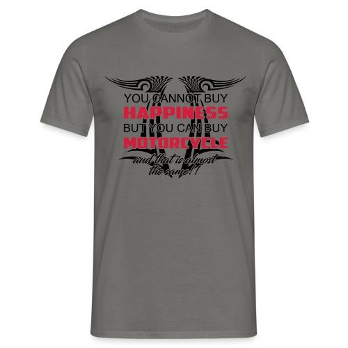 Motorrad Happiness - Männer T-Shirt