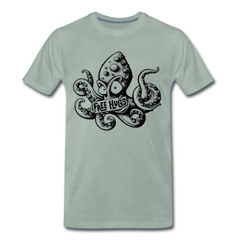 Gratis knuffel T-shirt - inktvis met Free Hugs opdruk - Mannen Premium T-shirt