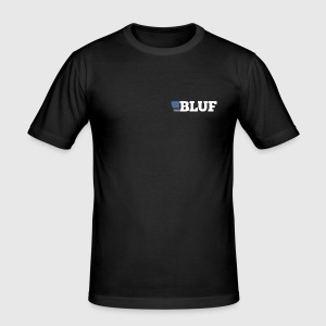 BLUF sexy slim T with rear personalised number (be sure to resize the number to your prefered size!) - Men's Slim Fit T-Shirt