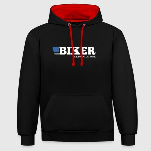 BLUF BIKER colour contrast hoody - Contrast Colour Hoodie