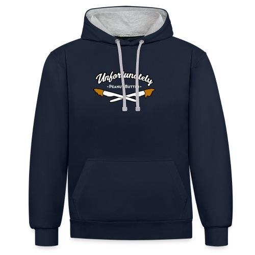 Peanutbutter unisex contrast hoodie - Contrast hoodie