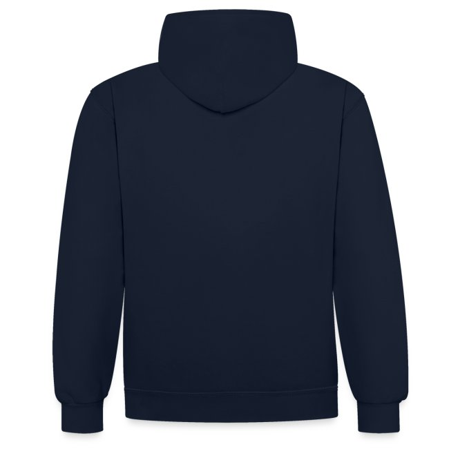 Peanutbutter unisex contrast hoodie