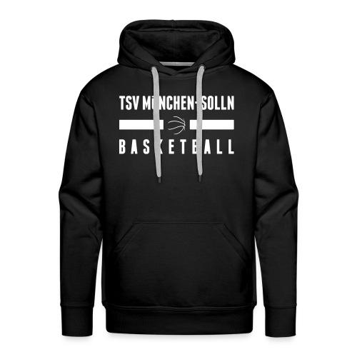 Herren Kapuzenpullover schwarz mit TSV Solln Basketball Schriftzug - Männer Premium Hoodie
