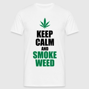 Keep calm and smoke weed - Koszulka męska