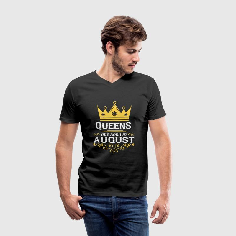 Queens are born in August T-Shirts - Men's V-Neck T-Shirt