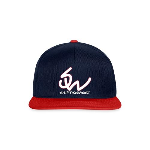 SnapBack (White-Red Logo) - Snapback cap