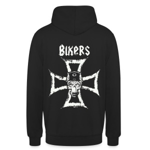 Biker's Cross - Sweat-shirt à capuche unisexe