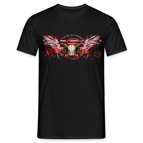 Geflügelter Widderschädel - Männer T-Shirt