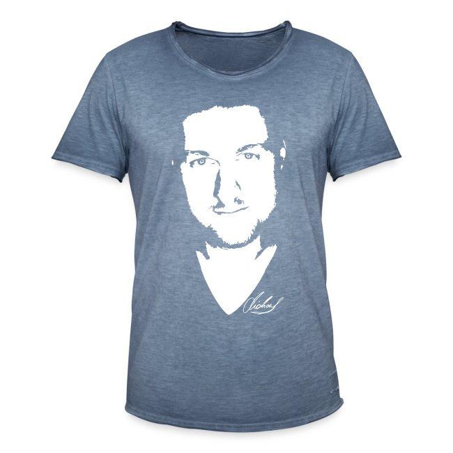 MF T-Shirt VINTAGE-look Men - logo/weiss