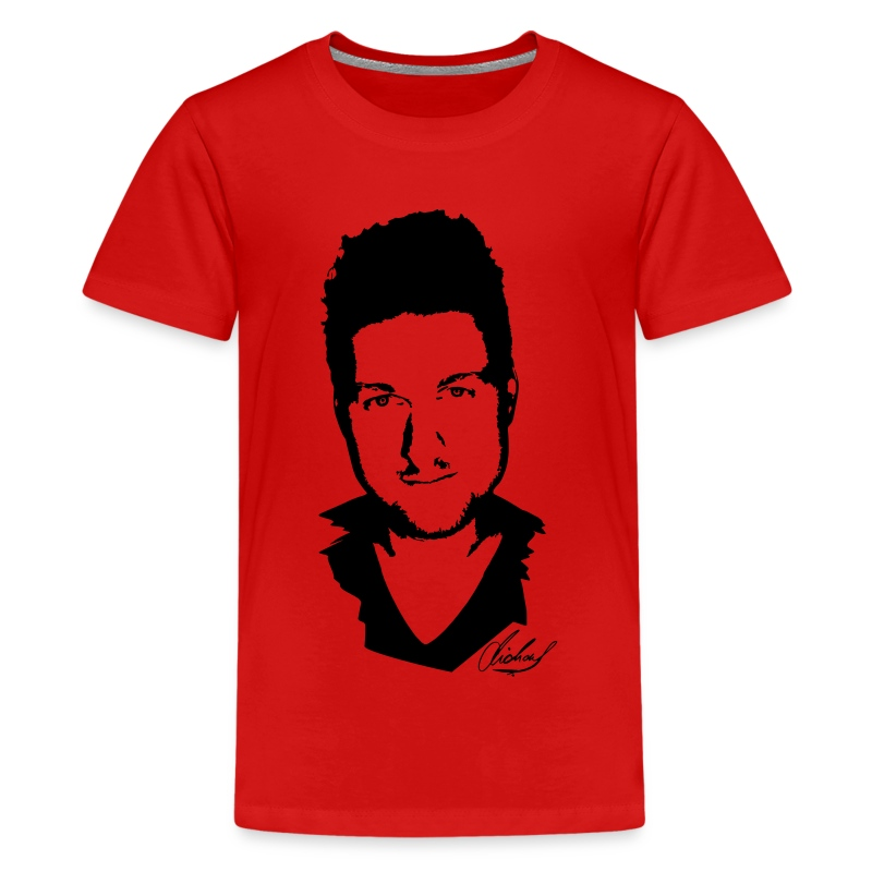 MF T-Shirt STANDARD Jugend - logo/schwarz - Teenager Premium T-Shirt