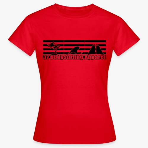 Bodysurfing Roots Shirt Red Female - Women's T-Shirt