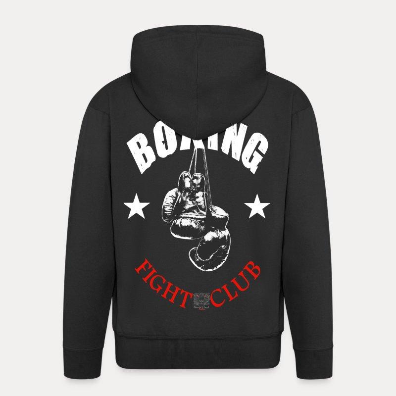 Sweat Shirt Unisexe Boxing Fight Club - Veste à capuche Premium Homme