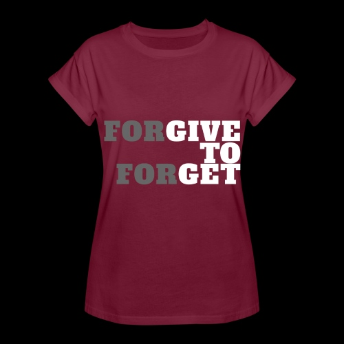 forGIVE TO forGET - Frauen Oversize T-Shirt