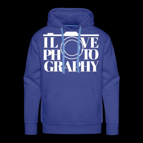 I love Photography - Männer Premium Hoodie