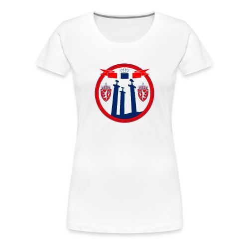 The Kingdom of Norway - Premium T-skjorte for kvinner