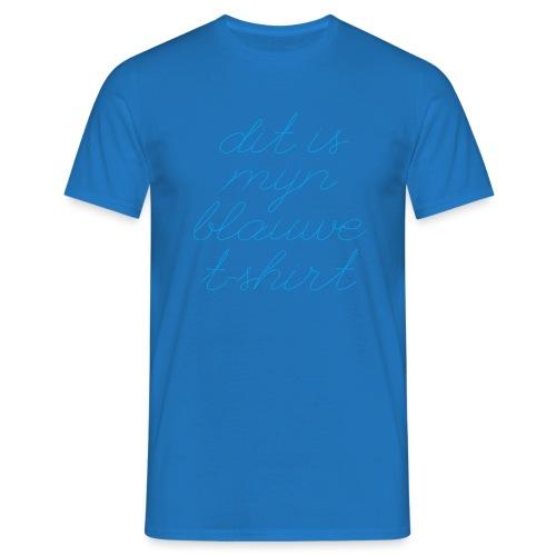 Blauw t-shirt mannen t-shirt - Mannen T-shirt
