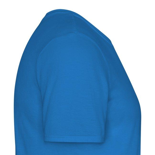 Blauw t-shirt mannen t-shirt