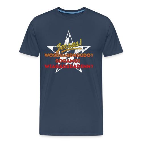 Jessas! für ganz dunkle Shirts - Männer Premium T-Shirt