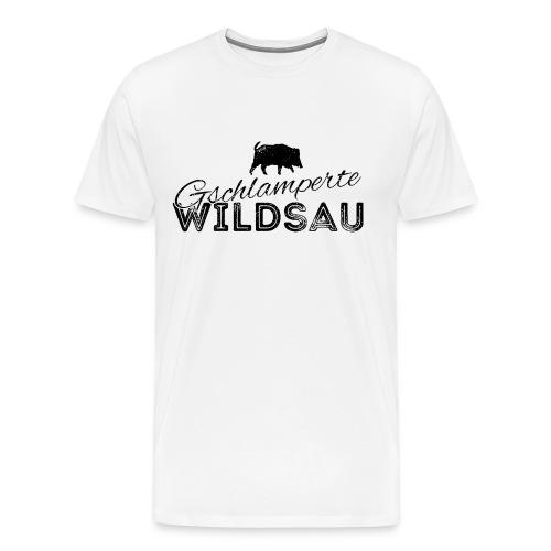 Gschlamperte Wildsau schwarz - Männer Premium T-Shirt