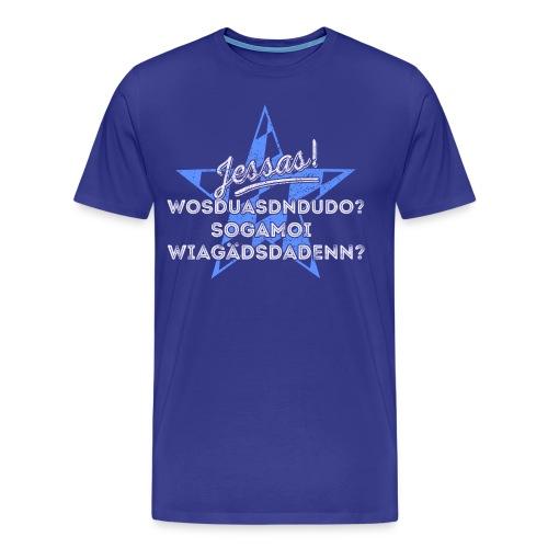 Jessas! für dunkle Shirts - Männer Premium T-Shirt