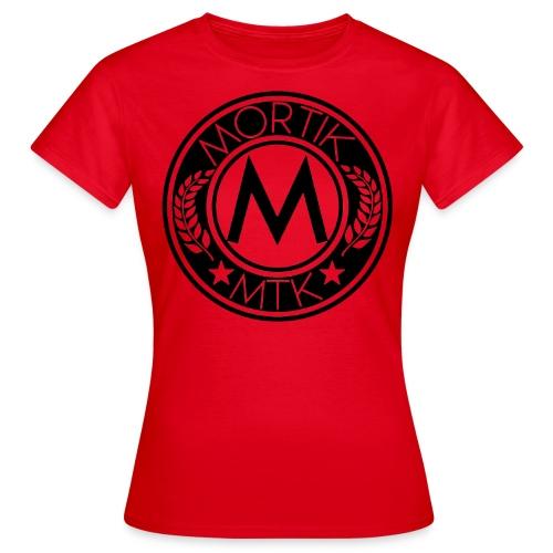 T-Shirt Femme Rouge MORTIK Roma Logo Noir - T-shirt Femme