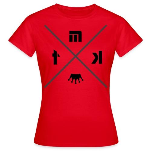 T-Shirt Femme Rouge MTK X Logo Noir/Gris - T-shirt Femme