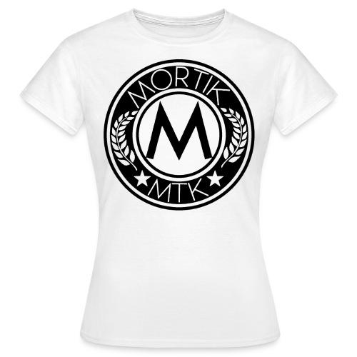 T-Shirt Femme Blanc MORTIK Roma Logo Noir - T-shirt Femme