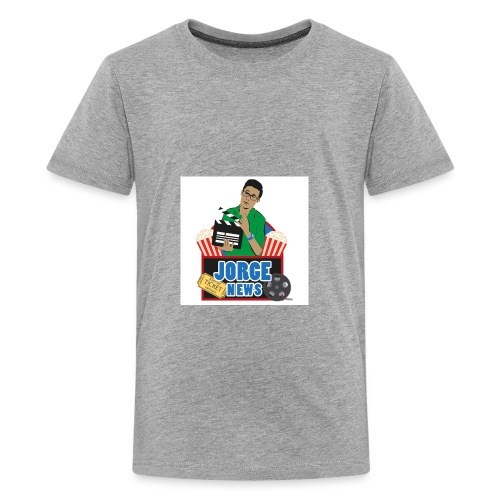Teenage Premium T Shirt JORGE NEWS : heather grey - Teenage Premium T-Shirt