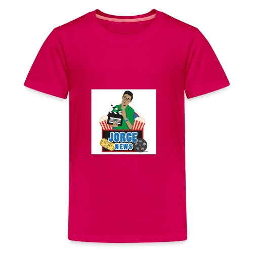 Teenage Premium T Shirt JORGE NEWS : dark pink - Teenage Premium T-Shirt