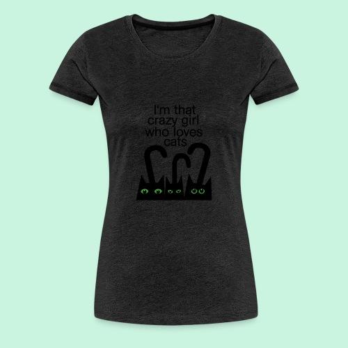 For gracy girl who loves cats - Frauen Premium T-Shirt