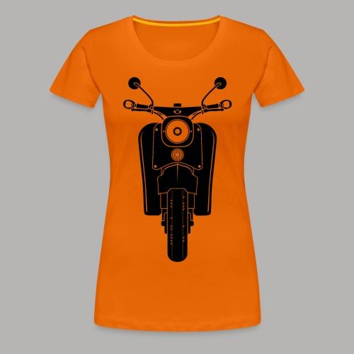 Simson Schwalbe Front // Damen T-Shirt  - Frauen Premium T-Shirt