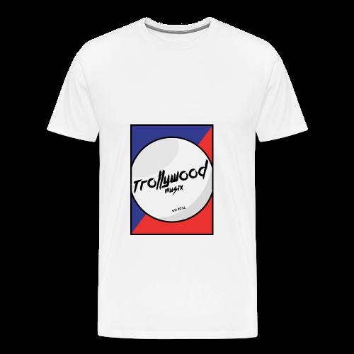 TrollywoodMusiX | Logo | Blue-Red - Männer Premium T-Shirt