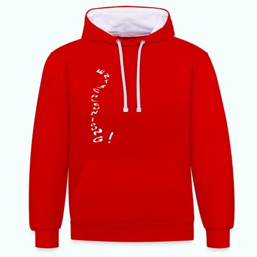 entschleunigung  Pullover & Hoodies - Contrast Colour Hoodie