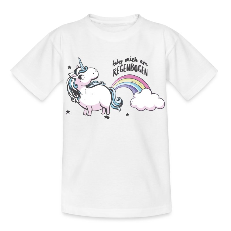 regenbogen einhorn kinder t shirt t shirt pferde t shirts. Black Bedroom Furniture Sets. Home Design Ideas