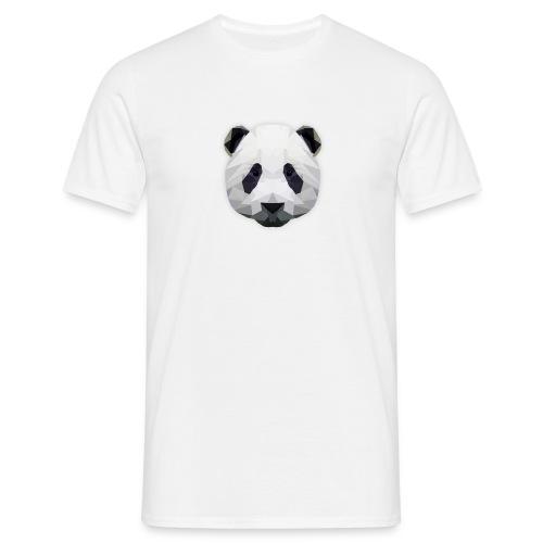 Herren T-Shirt Low Poly Panda - Männer T-Shirt