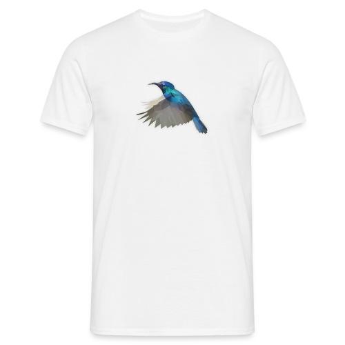 Herren T-Shirt Low Poly Kolibri - Männer T-Shirt