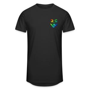 Longshirt für Männer mit Multicolor Logo - Männer Urban Longshirt