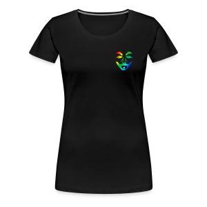T-Shirt für Frauen mit Multicolor Logo - Frauen Premium T-Shirt