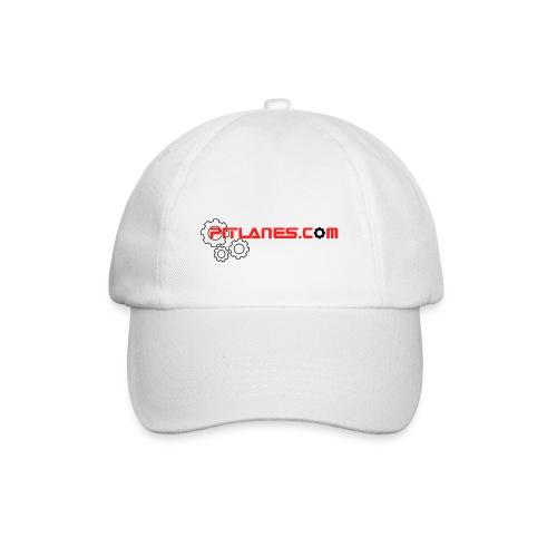 Pitlanes.com White Cap - Baseball Cap