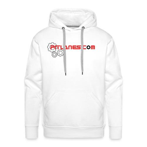 Pitlanes.com White Premium Hoodie - Men's Premium Hoodie