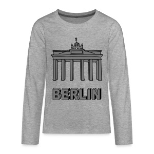 Brandenburg Gate in Berlin 2 Long Sleeve Shirts - Teenagers' Premium Longsleeve Shirt