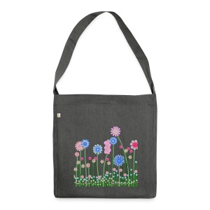romantic flowers - Schultertasche aus Recycling-Material