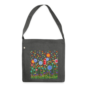 Boho - Schultertasche aus Recycling-Material