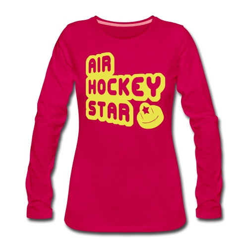 Air Hockey Star Women's Long Sleeve T-Shirt - Women's Premium Longsleeve Shirt