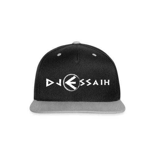 Dj Essaih Snapback (flerfarget og hvit logo) - Snapback-caps med kontrast